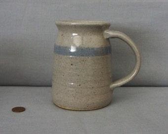 Blue Stoneware Salt Glaze Mug