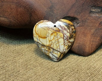 Sale #EarthDay ~ Dramatic Bold Multicolored Picasso Jasper Heart
