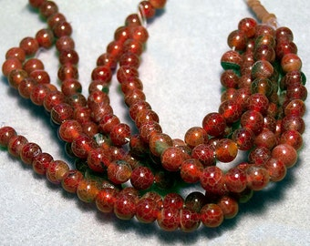 Medium Red Crabs- gemstone beads