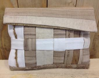 NATURAL POCHETTE, HEMP purse, Fish leather bag, eco friendly bag, unique woman purse, eco purse, eco friendly purse, made in italy