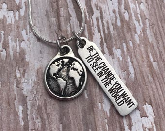Peace in the world etsy be the change inspirational one person at a time world peace hand aloadofball Choice Image
