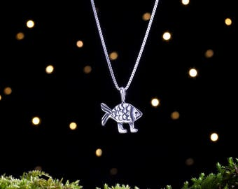 Sterling Silver Darwin Fish - (Pendant Only, No Chain) [CLEARANCE]