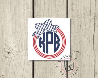 4th of July Monogram Frame-Style 07
