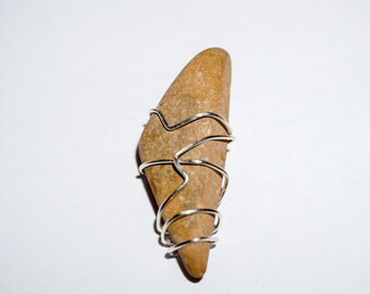Triangle Pendant Wire Wrapped Stone