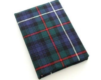 Tartan Sketchbook, ON SALE Due to Flaw, Handmade Journal, Unlined Diary, Gift for Artists, Gift for Writers, Plaid Journal, Blank Book