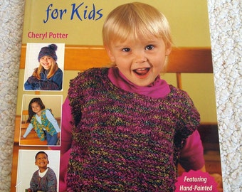 Rainbow Knits for Kids, Softcover Book of Handknit Designs by Cheryl Potter