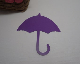 Umbrella Die Cuts - Choose any color! Scrapbooking, Embellishment, Card Making, Decorations, Crafts, School, Tags, Spring, Easter VTC-0202