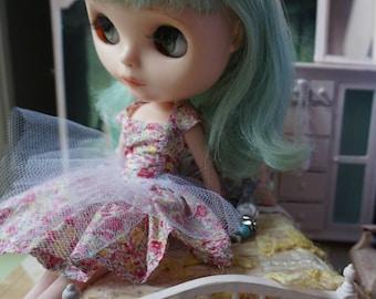 BLYTHE DRESS -  Sweetheart Sweet Cotton Lawn Tiny Floral Print Dress