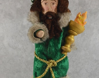 Ghost of Christmas Present Charles Dickens Nutcracker Collectible Handmade Ready to Ship