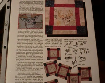 ALL 12 Patterns for America The Wild twin size quilt