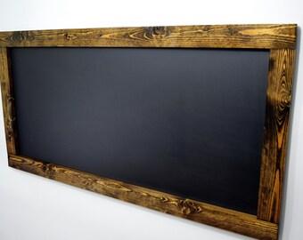 Large Rustic Framed Chalkboard   Chalkboards   Wedding Chalkboard   Kitchen  Chalkboard   Wall Chalkboard