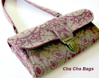 Women's Wallet, Smartphone iPhone Wallet, Clutch, Purse, Accordion, Purple Wallet - Ready to Ship