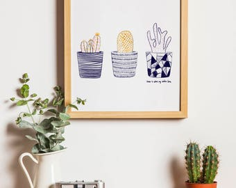Cactus print for the home | cacti print | Cactus poster