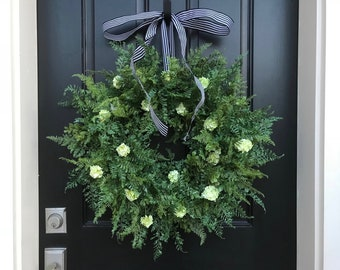 NEW Fern Wreath, SPRING/SUMMER Wreaths, Summer Wreaths, Realistic Fern Wreath, Year Round Wreath, Etsy Wreaths, Artificial Fern Wreath