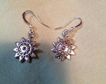 Silvertone Sunshine Earrings