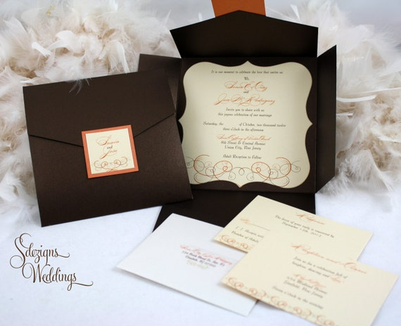 Autumn Wedding Invitation Fall