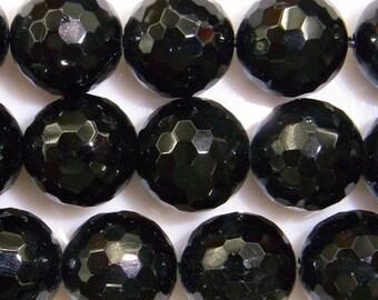 Tourmaline Beads Natural Genuine 12mm Round Cut Black Beads - 15''L Semiprecious Gemstone Bead Wholesale Beads Supply