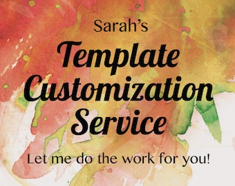 Invitation Template Customization Service - Turn a template into a print-ready digital file