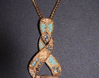 Beaded Ribbon Pendant