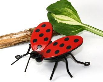 Flying Ladybug with Garden Stake