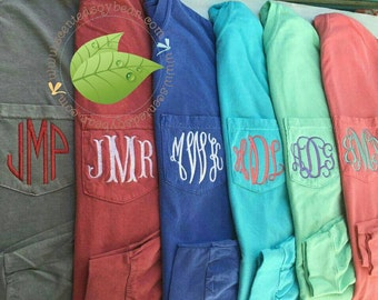 Long Sleeve Comfort Colors 4410, Long Sleeve Pocket Tee, Monogrammed Long sleeve, Monogrammed Comfort Colors, Pocket Tee