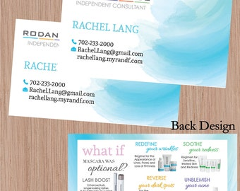 Rodan and Fields, Rodan + Fields, Skin Care Products, Printable Rodan and Fields Business Cards, R+F, R+F Consultant