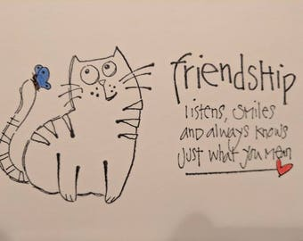 Friendship Greeting Cards. Handmade.