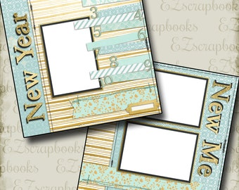 New Year New Me - 2 Premade Scrapbook Pages - EZ Layout 636