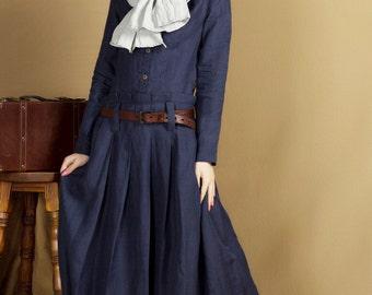 on sale, red dress and blue dress, long linen dress
