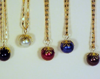 "Cynthia Lynn ""LITTLE LUXURIES"" 18kt Gold Filled Embellished Pearl Necklaces - 5 Colors!!"