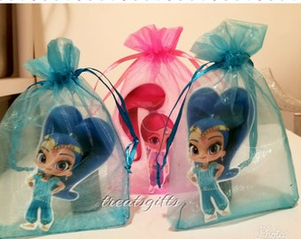 Shimmer and shine birthday - shimmer and shine gopdie bags - shimner and shine  party  - shimmer and shine  party favors - Shimmer and shine