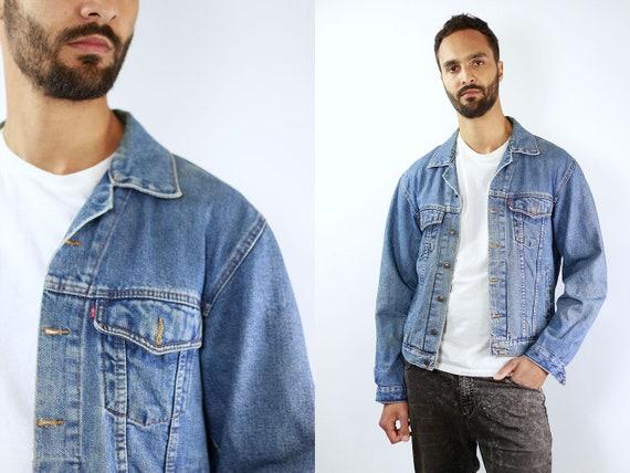 LEVIS Denim Jacket Levis Jean Jacket Denim Jacket Levis Large Jean Jacket Men Levis Jacket Blue Vintage Denim Jacket Men Blue Levis Jacket