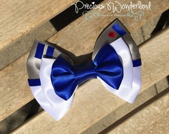 Blue Droid Inspired Hair Bow