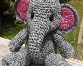 Baby Elephant Amigurumi Crochet Pattern PDF Doll not included