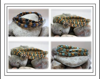 Tutorial ~ Trendy Multi-Wrap Bracelet by Reggie's Creations ~ Beaded Bracelet Pattern