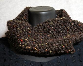 Earthy hand knit neckwarmer