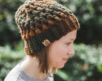 Puff Stitch Beanie--adult--multicolor