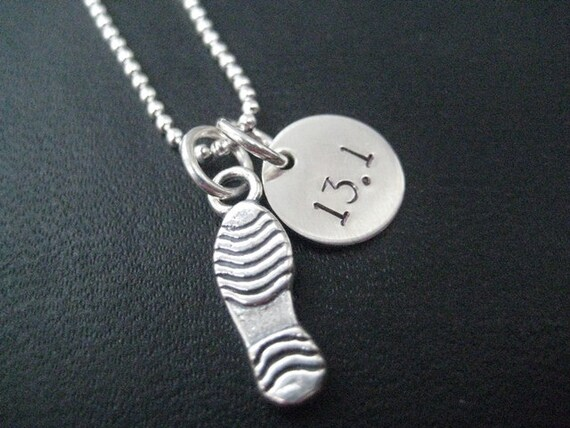 Running Shoe Necklace Charm
