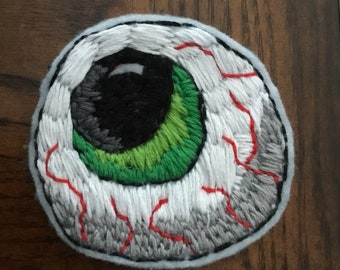 Hand Embroidered Eyeball Patch