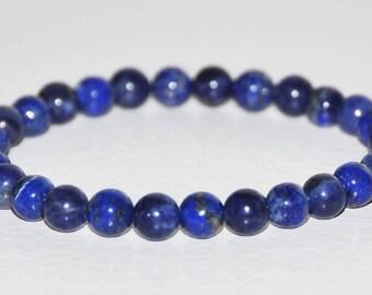 Intuition, Sixth Sense Bracelet, Lapis Lazuli & Sodalite, Natural Blue Gemstone, Simple Bead, Layering Bracelet, Third Eye Chakra, Clarity
