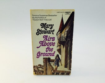 Vintage Gothic Romance Book Airs Above The Ground by Mary Stewart 1965 Paperback