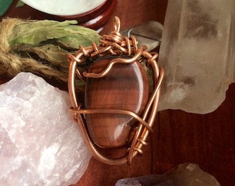 Tigers Eye and Copper Necklace