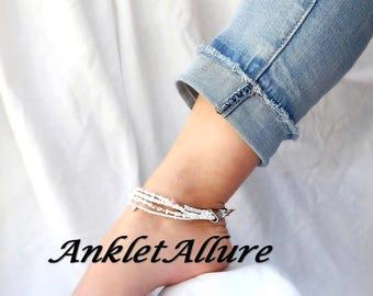 Anklet Anklets Shell Anklet Multi Line Ankle Bracelet Beach Anklet Anklets for Women