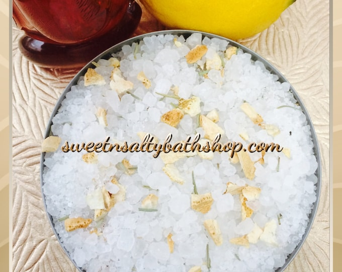 Lemon & Honey Loose Bath Tea Salt Soak