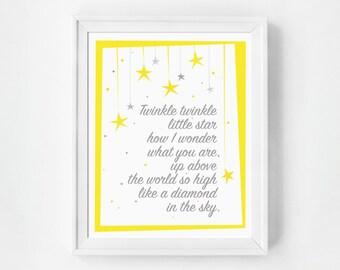 Nursery Decor, Nursery Print, Nursery Wall Art, Nursery Gift, Baby Girl, Girls Room Decor,  Girls Room Wall Art, Quote Prints