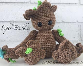 Amigurumi Patterns Groot : Crochet groot etsy