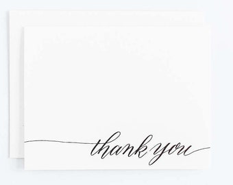 Thank You - Letterpress Calligraphy Greeting Card