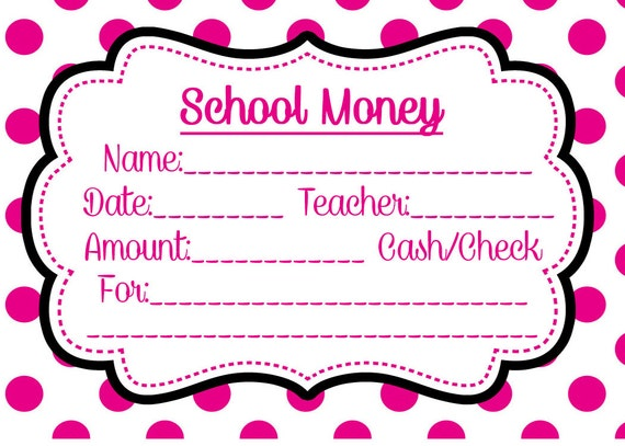 School money label pink dots download and print yourself lunch field school money label pink dots download and print yourself lunch field trip tuition elementary envelope cash check book order class classroom from solutioingenieria Images