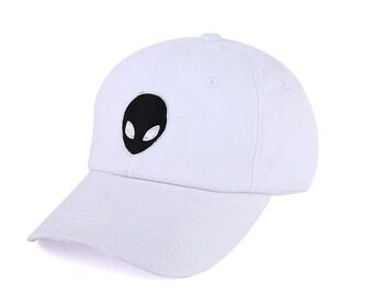 Dad Hat - Alien Hat in white