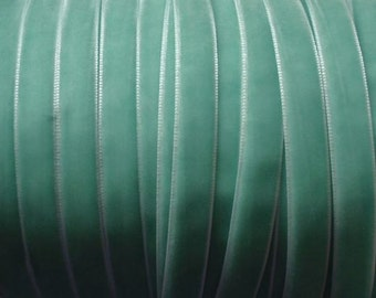 10 yards 3/8 inches Velvet Ribbon in Aqua RY38-46